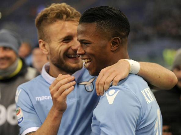 Keita, a destra, con Ciro Immobile (Getty Images)