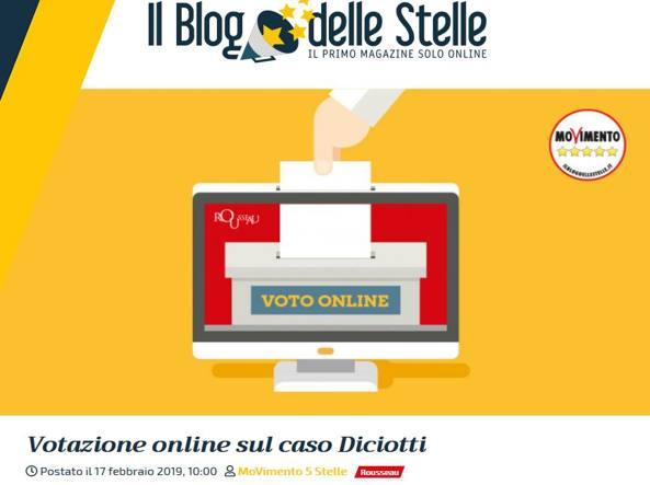 Caso Diciotti, voto online M5S: vince il no al processo a Salvini