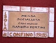 Ventotene, una targa dedicata ai luoghi della memoria dei confinati