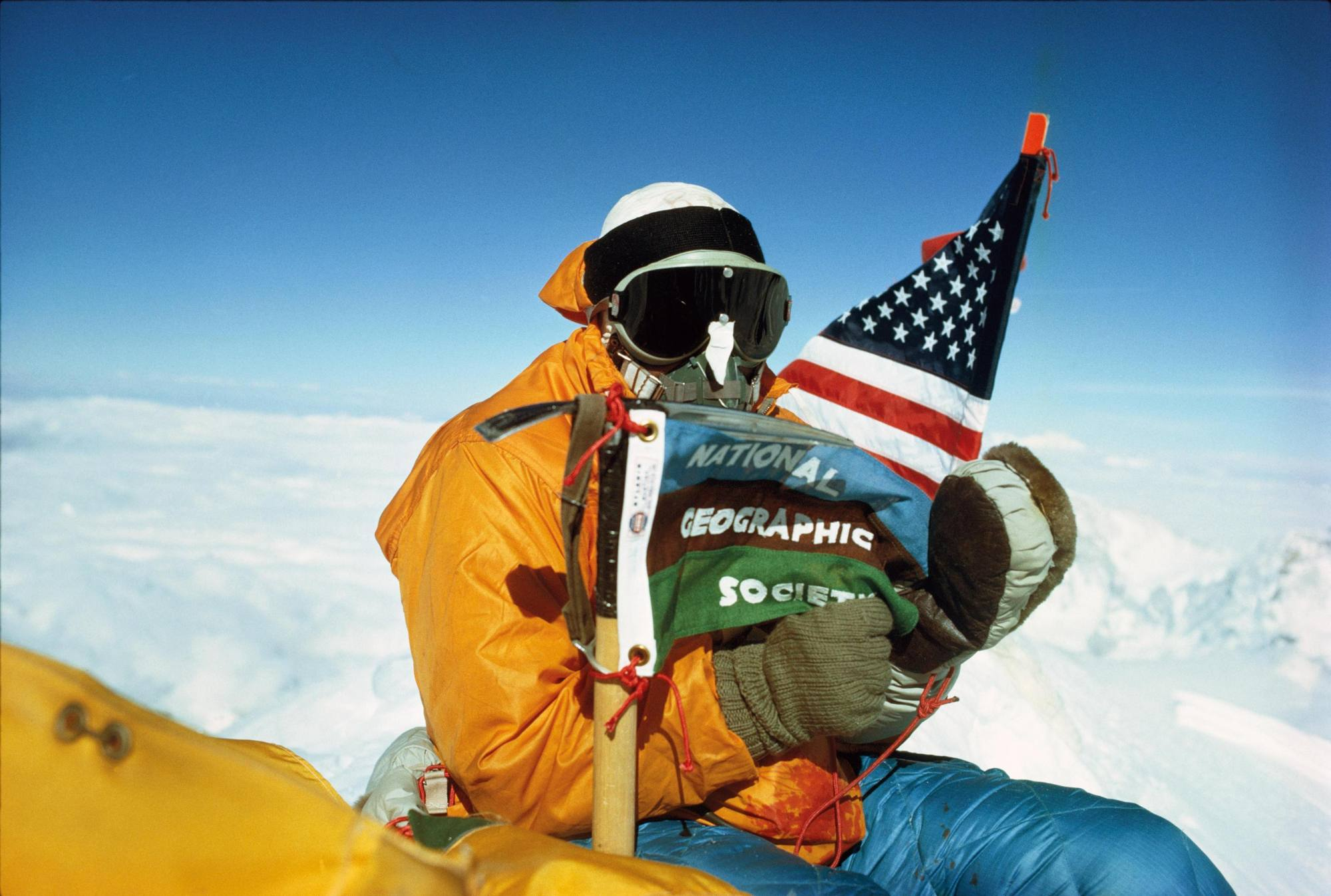 Barry Bishop sull'Everest in Nepal nel 1963