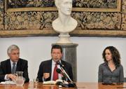 Il vice sindaco Nieri, il sindaco Marino e l'assessore al Bilancio Morgante