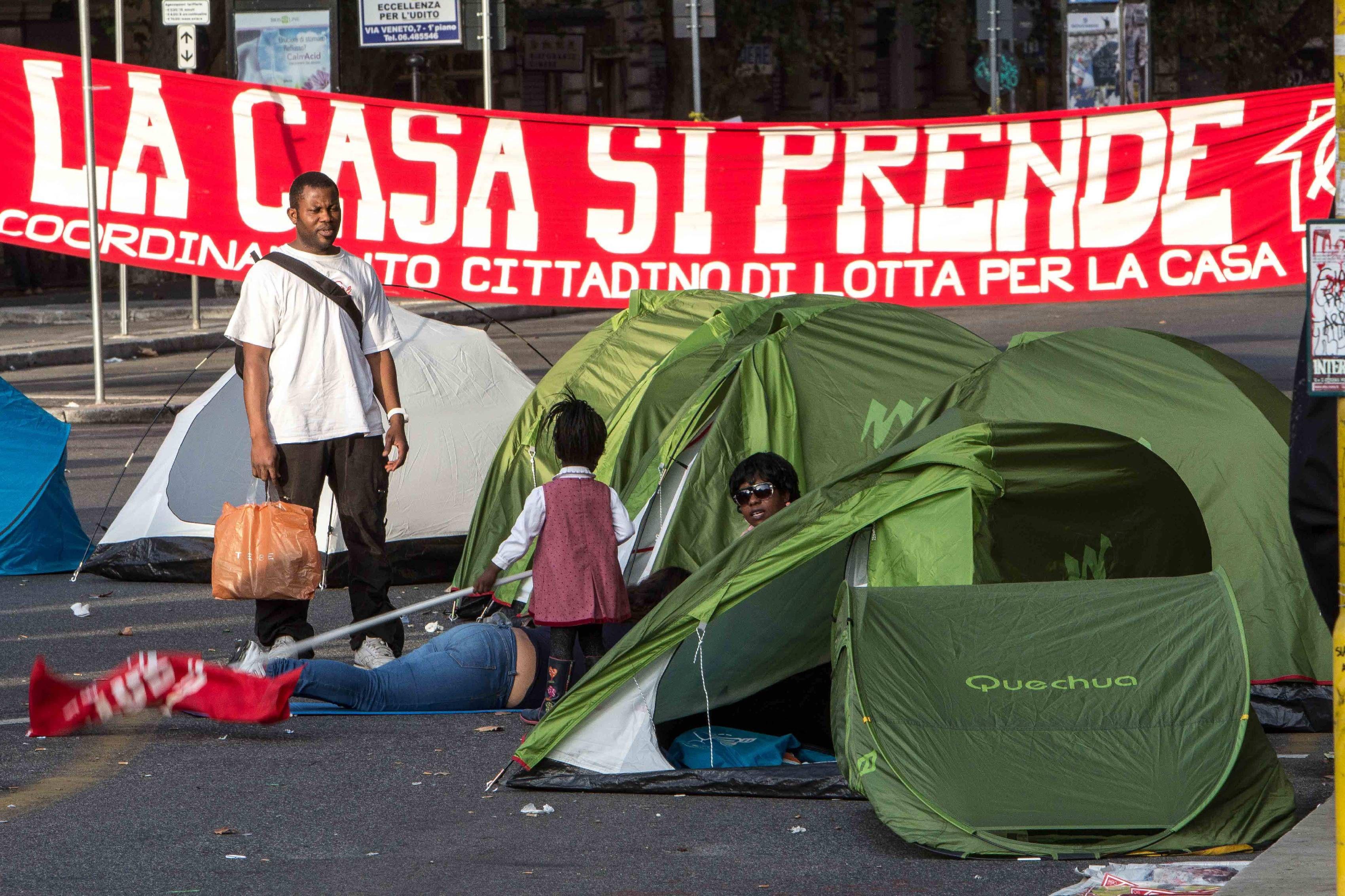 L'acampada a Porta Pia (Fotogramma)