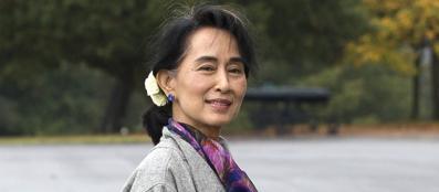 San Suu Kyi , leader dell'opposizione birmana