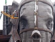 Si lavora a completare l'Elefante, altra attrazione del nuovo parco Cinecittà World (foto Jpeg)