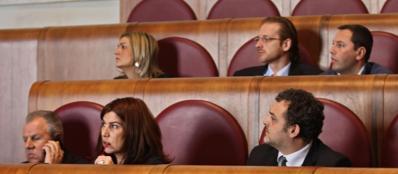 Alcuni dei mini sindaci alla riunione sul bilancio (Jpeg)