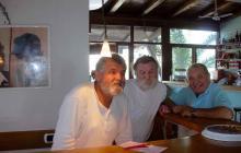 Alberto (a sinistra) coi fratelli Maurizio e Camillo