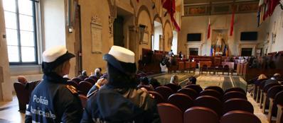 L'aula G.Cesare dove si riunisce il consiglio comunale di Roma