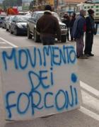 Una protesta dei forconi (Ansa)