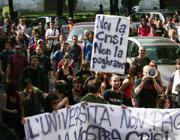 Una protesta degli universitari a Roma (Jpeg)