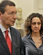 Marino e l'assessore al Bilancio Morgante