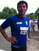 Pietro Tornaboni a una maratona