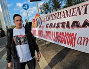 Una protesta di dipendenti dell'Ama (Jpeg)