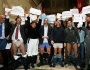 Una protesta dei presidenti del 15 Municipi di Roma in Campidoglio (Jpeg)