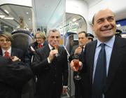 L'ad Moretti e Zingaretti all'inaugurazione