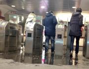 Allagamenti nella stazione Lepanto della linea A (Ansa)