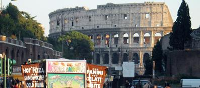 Un camion bar conn vista sul Colosseo (Jpeg)