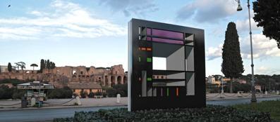 L'opera che Visalli espose al Circo Massimo (foto Jpeg)