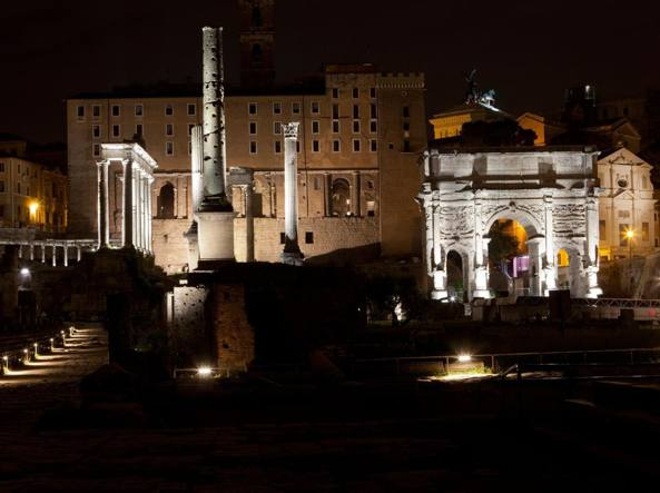 Nuova illuminazione notturna da ponte milvio al pantheon corriere