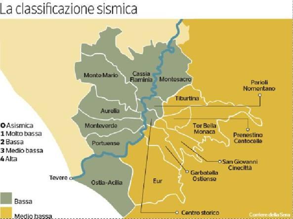 Quartieri Roma Cartina.Terremoto Trema Di Piu Roma Est La Mappa Del Rischio Nei Quartieri Corriere It