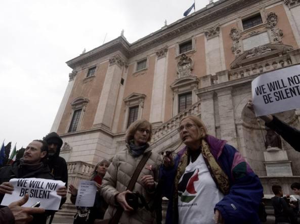 Sala Piccola Protomoteca : Anti israele in piazza «20 denunce per il mancato preavviso