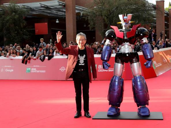Go Nagai e Mazinga Z sul red carpet (Getty Images)