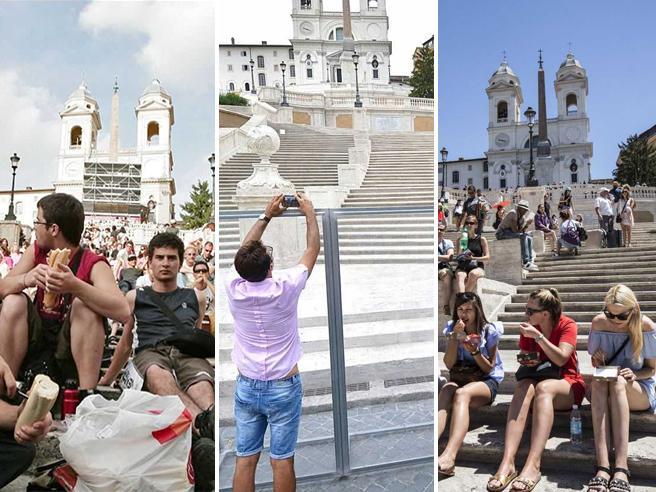 Roma, senza pace la Scalinata fotoDopo il restauro è ancora bivacco