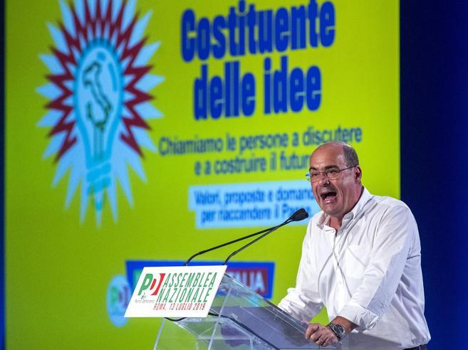 Zingaretti: basta correnti, serve una rivoluzione o non ce la facciamo Renzi vuole riprendersi il Pd