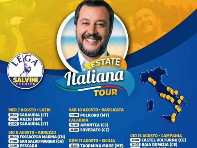 Per il voto sulla Tav  Salvini rinvia il debutto  a Sabaudia del tour: fan delusi
