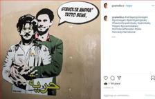 Roma, Regeni e Zaki insieme in un murales accanto all'ambasciata d'Egitto