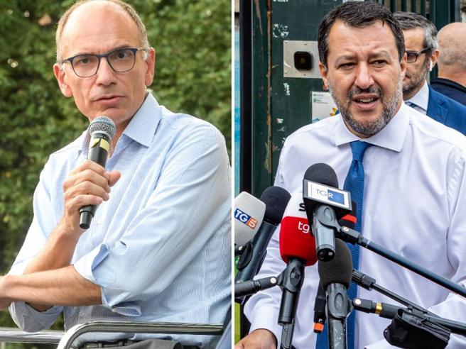 Duro scontro Letta-Salvini, Giorgetti: l'estensione del  green pass al lavoroaumenta la libertà