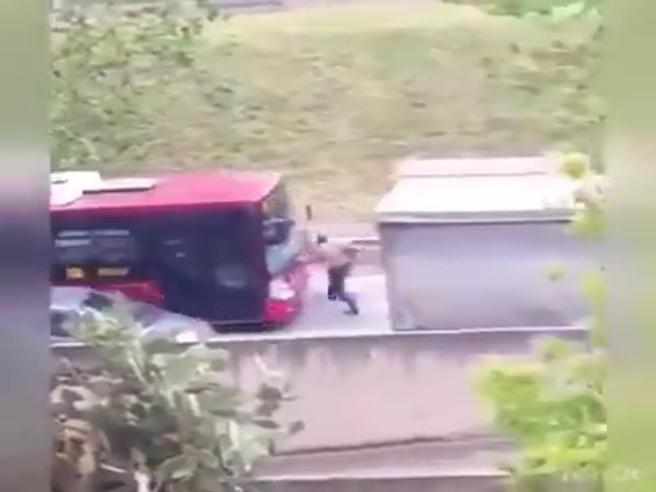 Autista del bus tenta di investire  il pedone: voleva salire a bordo coi cani Video