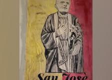 Mourinho «San Josè» in un murale in via Urbana: il saluto dello street artist