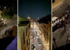 Gli studenti e «La notte prima degli esami» a Trinità dei Monti