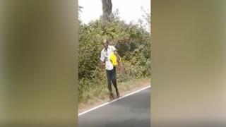 Quell'uomo in campagna con una borsa gialla: «Somiglia a Daniele Potenzoni»
