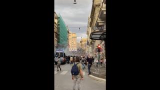 No Green Pass, disordini nel centro di Roma