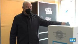 Ballottaggio a Roma, Michetti al voto: «No comment su manifestazione Cgil»