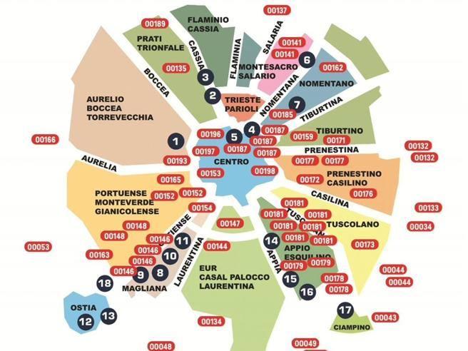 Quartieri Roma Cartina.Coronavirus Monteverde E Appio Le Zone Con Piu Contagi 21 I Nuovi Casi Corriere It